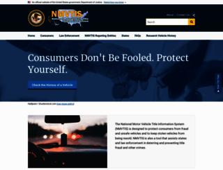 nmvtis.gov screenshot