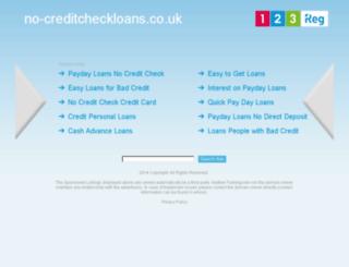 no-creditcheckloans.co.uk screenshot