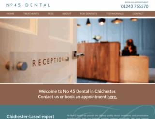 no45dental.co.uk screenshot