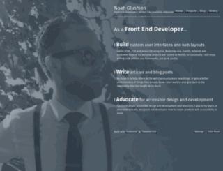 noahglushien.com screenshot