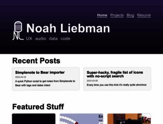 noahliebman.net screenshot
