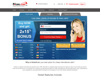 nobelcom.com screenshot