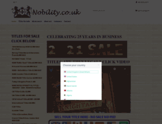 nobility.co.uk screenshot