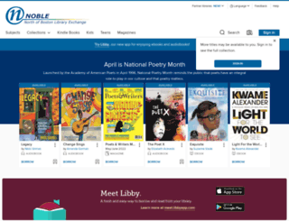 noble.libraryreserve.com screenshot