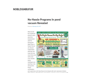 nobleignbufjir.wordpress.com screenshot