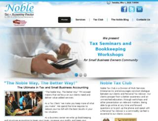 nobletaxaccounting.com screenshot