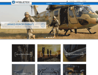 nobletex.in screenshot