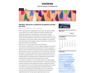 nociones.wordpress.com screenshot