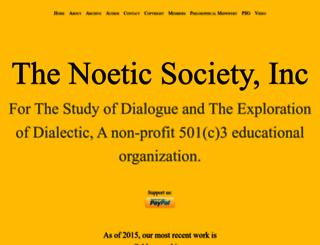 noeticsociety.org screenshot
