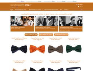 noeudspapillon-shop.fr screenshot