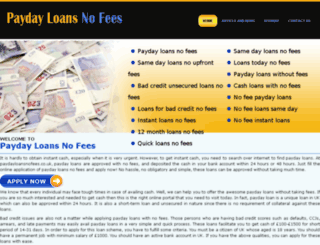 nofeeloans.paydayloansnofees.co.uk screenshot