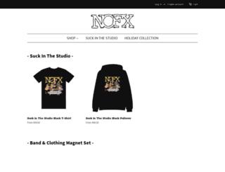 nofxmerch.com screenshot