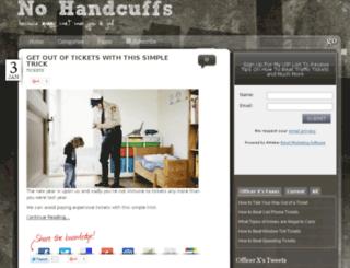 nohandcuffs.com screenshot