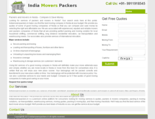 noida.indiamoverspackers.in screenshot
