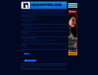 nojunkfree.com screenshot