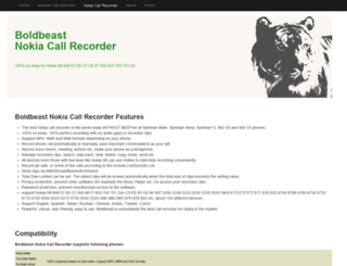 nokia-call-recorder.com screenshot