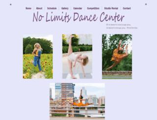nolimitsdancecenter.com screenshot