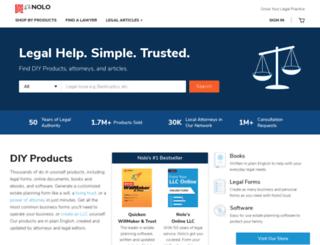 nolo.com screenshot