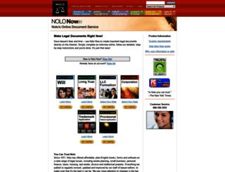nolonow.nolo.com screenshot