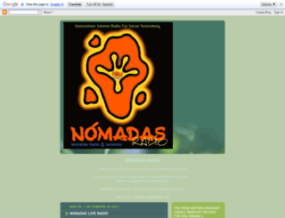 nomadasradio.blogspot.com screenshot