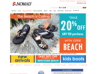 nomadfootwear.com screenshot