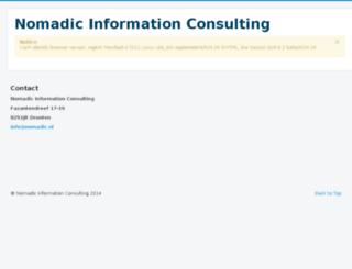nomadic.nl screenshot