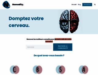 nomadity.be screenshot