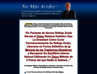 nomasacidez.com screenshot