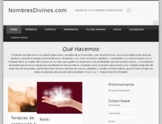 nombresdivinos.com screenshot
