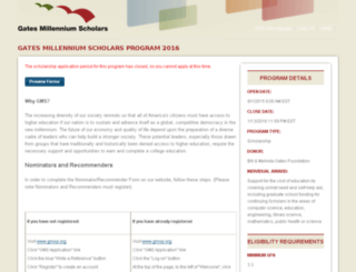 nominations.gmsp.org screenshot