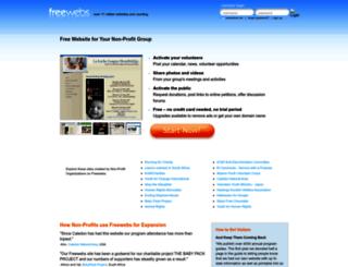 non-profit.webs.com screenshot