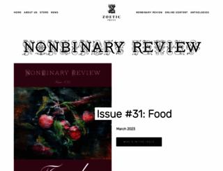 nonbinaryreview.com screenshot