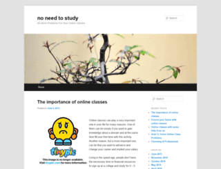 noneedtostudy.freeblog.biz screenshot