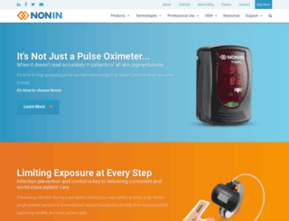 nonin.com screenshot