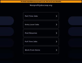 nonprofitjobscoop.org screenshot