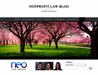 nonprofitlawblog.com screenshot