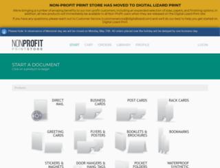 nonprofitprintstore.digitallizard.com screenshot