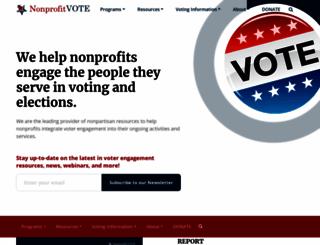 nonprofitvote.org screenshot