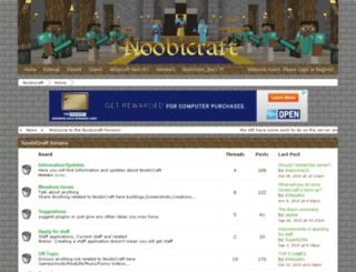 noobicraft.boards.net screenshot