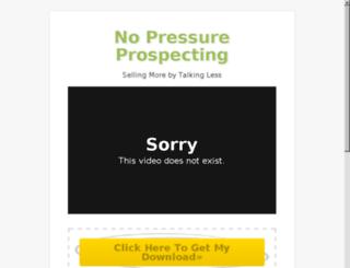 nopressureprospecting.com screenshot
