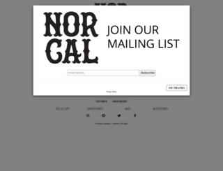norcalclothingco.com screenshot