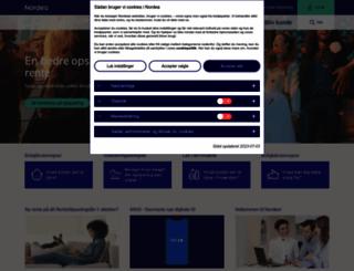 nordea.dk screenshot