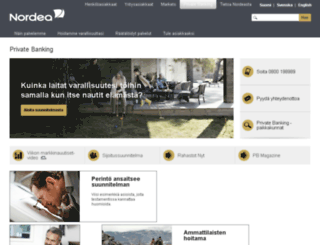 nordeaprivatebanking.fi screenshot