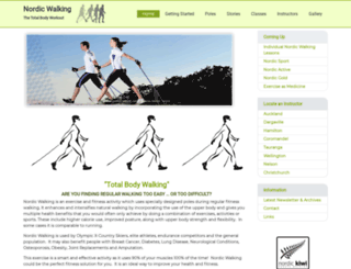 nordicwalking.net.nz screenshot
