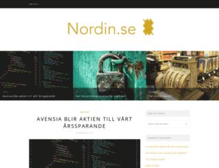 nordin.se screenshot