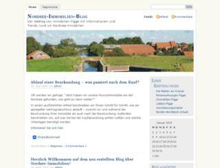 nordsee-immobilien-blog.de screenshot