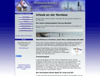 nordseeferienhaus-christian.de screenshot