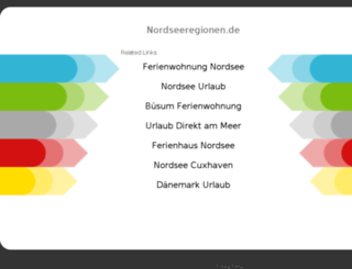 nordseeregionen.de screenshot