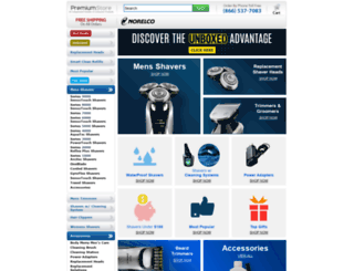 norelco.premiumstore.com screenshot