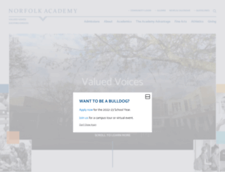 norfolkacademy.org screenshot
